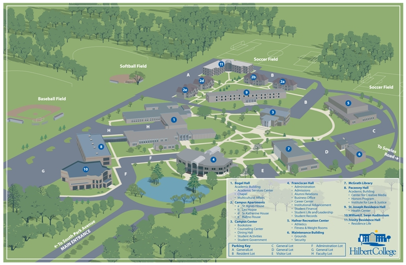 Under Armour Campus Map.Directions To Hilbert College Hilbert College Athletics