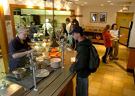 Hilbert Dining offers made to order meals