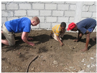 Hilbert students use donated seeds to help establish sustainable gardens in the Dominican Republic.