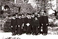 1966 Graduates by the grotto