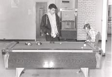 Playing Pool in the Campus Center