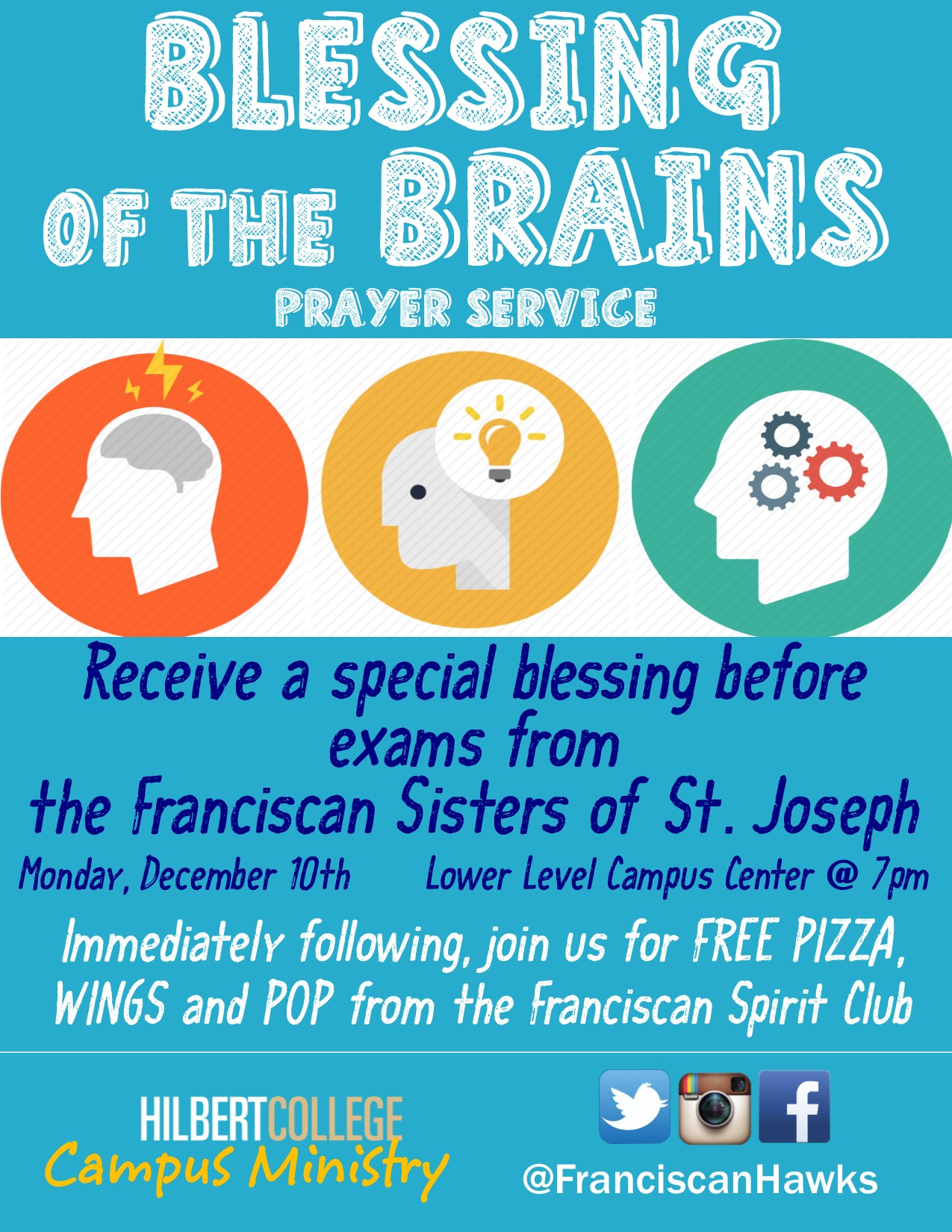 Blessing of the Brains Flyer