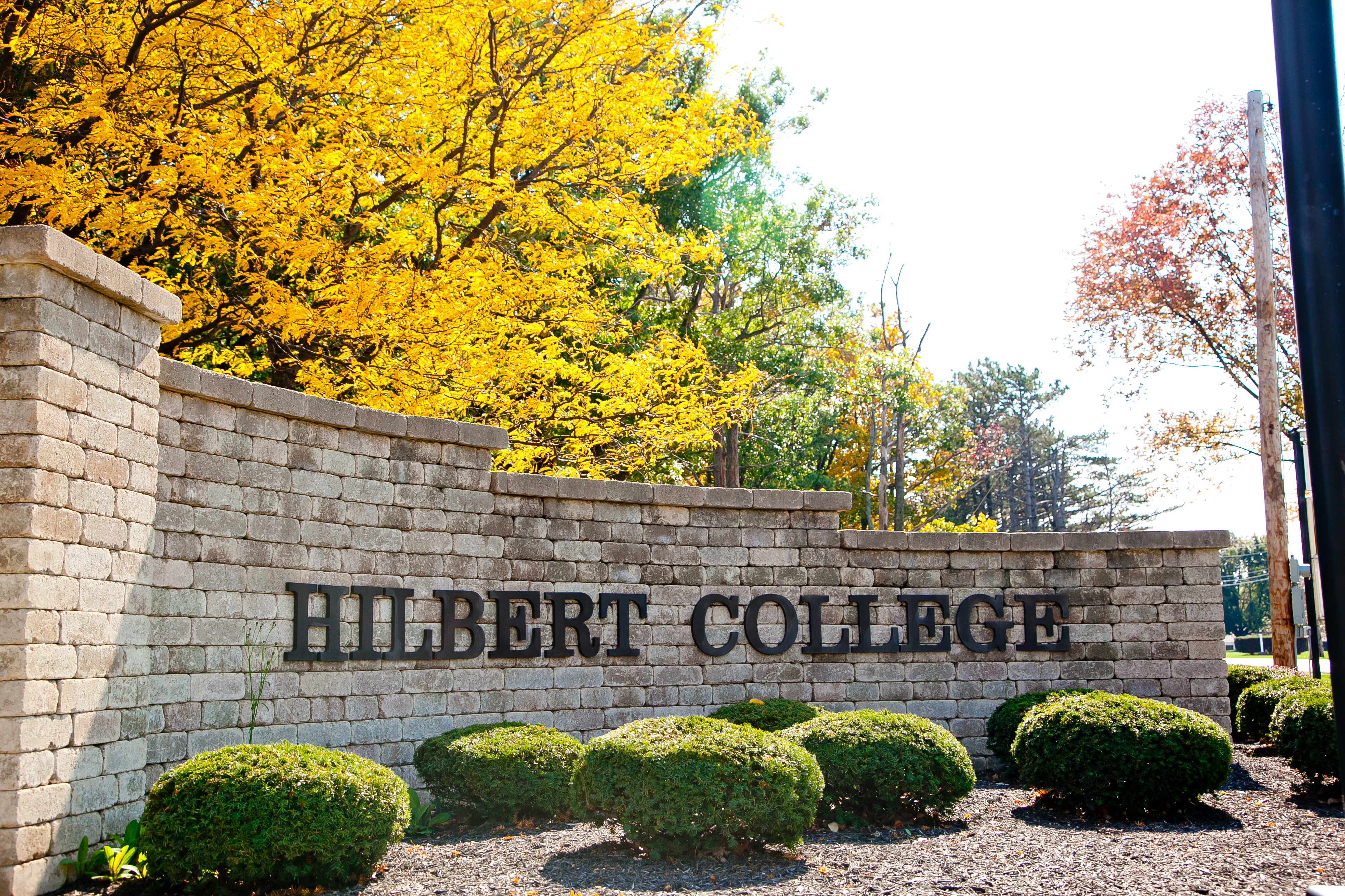 Hilbert College Sign