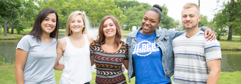 Hilbert College Students on campus