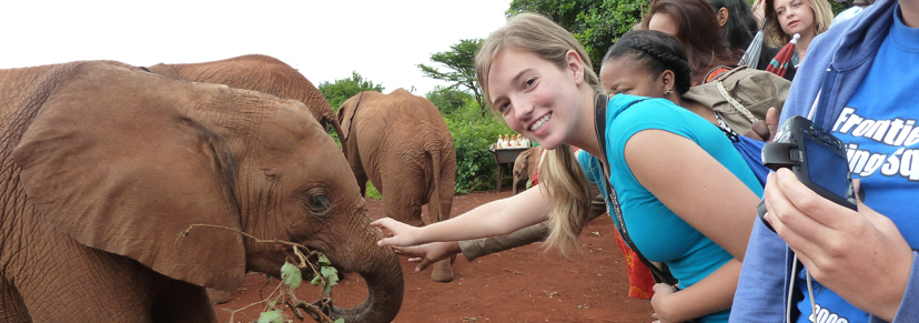 Hilbert Students on a service trip to Kenya