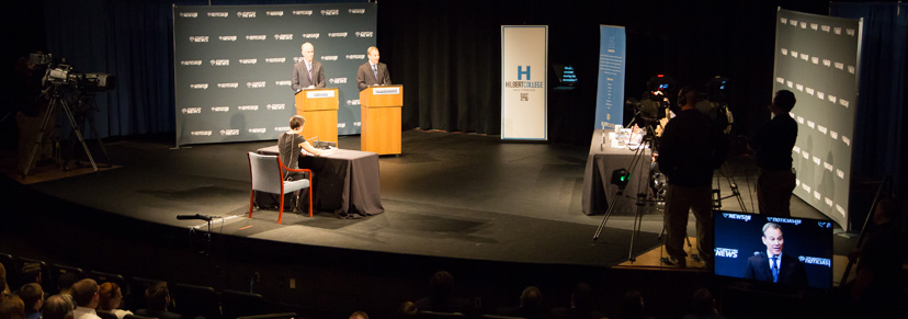 Televised debate in Swan Auditorium
