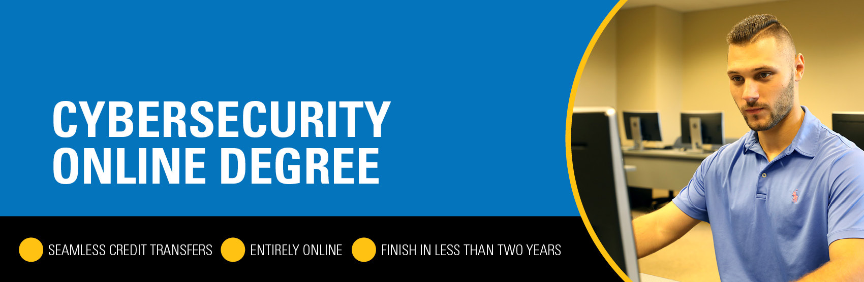 Online degree completion - Cybersecurity banner