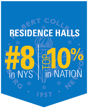 Residence hall top 10% in nation, #8 in NYS